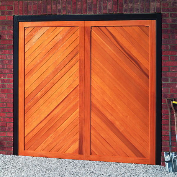 Up And Over Timber Garage Doors In Aberdeen Scotland Grampian