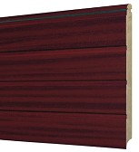 Mahogany Ribbed.Panel.Mirror