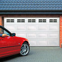 Centurion Georgian Sectional Garage Door White Windows